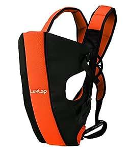 LuvLap Sunshine Baby Carrier (Black/Orange)