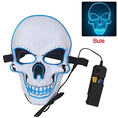 XUPHINX Máscara calavera LED Halloween 3 modos EL