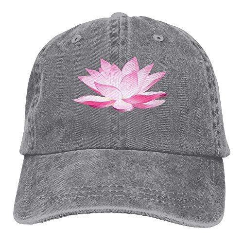 flys Lotus-Blumen-Denim-Hut-justierbare Mann-lustige Baseballmützen -