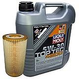LIQUI MOLY Top Tec 4200 5W-30 3707 + MANN FILTER Ölfilter HU 718/1 n