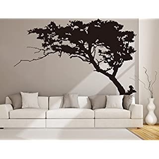 Tree Wall Sticker Black Pine for Living Room Kids Baby Nursery Wall Decoration Removable Vinyl Family Tree Wall Art Decal 87x71