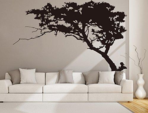 Rocwart pino nero albero adesivo da parete per soggiorno bambini baby nursery decorazione da parete rimovibile in vinile family tree wall art decal 221x 180,3cm nero