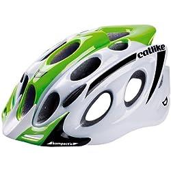 Catlike Kompact'o - Casco de ciclismo, color blanco/verde brillo, S 51-54 cm