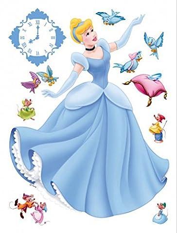 1art1 75258 Disney Prinzessin - Cinderella, Mäuschen Und Vögel Wand-Tattoo Aufkleber Poster-Sticker 65 x 42