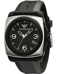 Armani AR5886 - Reloj con correa de textil para hombre, color negro / gris