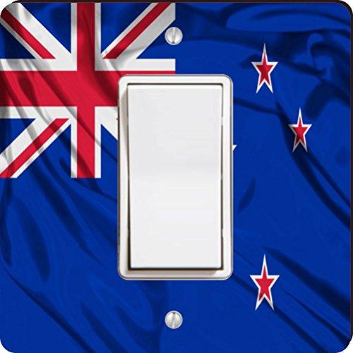 Rikki Knight Neuseeland Flagge Single Wippe Licht Teller - Single Lichtschalter