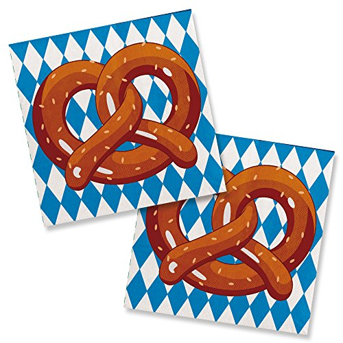 20 kleine Servietten * OKTOBERFEST* für Party und Geburtstag // Kindergeburtstag Kinder Feier Fete Set Oktoberfest Bayern - Oktoberfest Artikel
