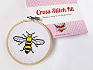 Bee Cross Stitch Kit for Adult Beginners- Manchester Worker Bee