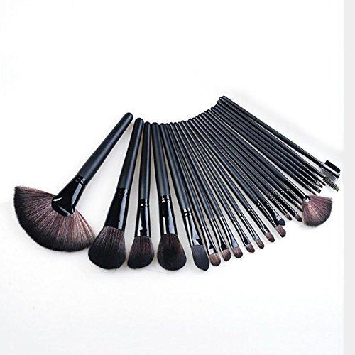 Jeu De Pinceau Cosmétique 24 Branches Portable Black Beauty Makeup Souple