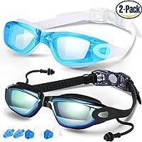 Schwimmen Brillen 2 Stück Schwimmen Brille Anti-Fog UV-Schutz für Erwachsene Herren Frauen Youth Kinder Kind hergestellt von cooloo