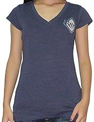 MLB Tampa Bay Rays femmes T-Shirt with Rhinestones (Vintage Look)