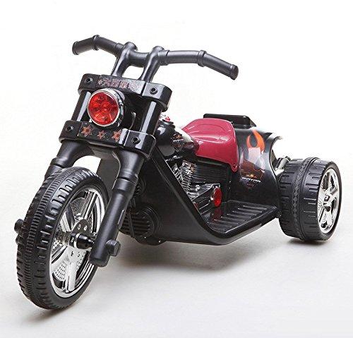 Preisvergleich Produktbild es-toys–Auto für Kinder–Motorrad des elektrischen Schalter–2Motoren–6V7Ah (schwarz)