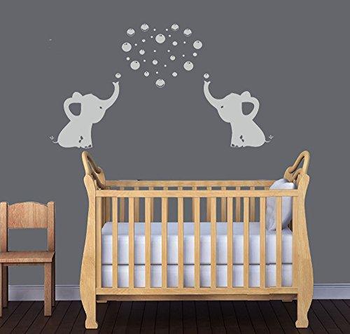 BDECOLL Elefant Bubbles Wandbild Aufkleber Kinderzimmer Decor/ Vinyl ...