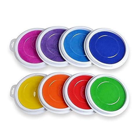 Elera 8große waschbar Tinte Pads für Kinder Stamping