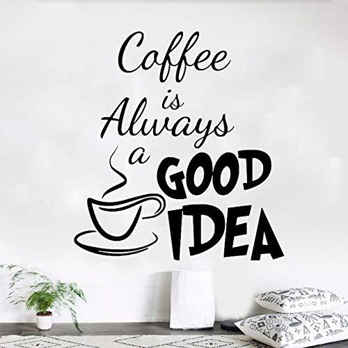 Kaffee ist gute idee persönlichkeit wandaufkleber kreative dekoration pvc abnehmbare aufkleber