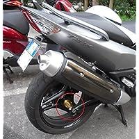 Tmax 500 coppia Rialzi distanziali alluminio anodizzato x schienale sella conducente T max Black
