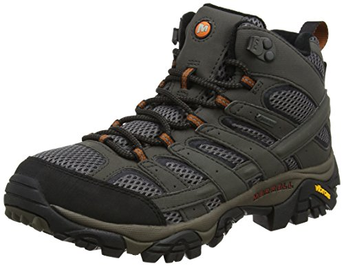 3ad1deaf180 Merrell Men's Moab 2 Mid Gore-tex High Rise Hiking Boots, Grey (Beluga