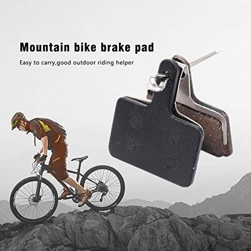 Qewmsg BIKEIN P01BP 2 UNIDS Pastillas de Freno de Disco de Bicicleta de Resina de Metal Durable para Shimano M375