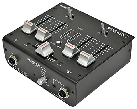 Citronic Mini Mix-2.0 DJ Mixer 2XUSB 172.756UK
