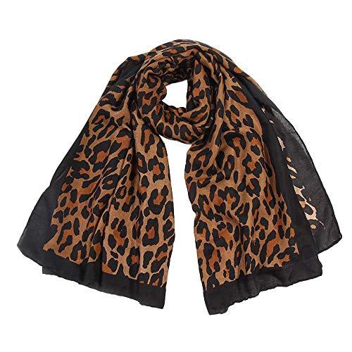 Retro Weiblich Mehrzweck Schal, Quaan Mode Frau Leopard Drucken Lange Weich Wickeln Schal Schals