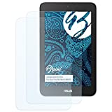 Bruni Schutzfolie für Asus VivoTab Note 8 M80TA Folie, glasklare Bildschirmschutzfolie (2X)
