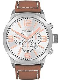 TW Steel Marc Coblen Edition Chrono mit Lederband 45 MM Silver/Brown TWMC32
