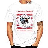 ♚Blusa de los Hombres, Camiseta de la Impresión de la Moda Camisetas de Impresión Camisa de Manga Corta Camiseta Blusa Absolute (S, Rojo)