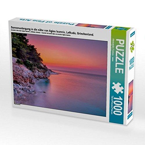 Preisvergleich Produktbild Sonnenuntergang in die nähe von Agios Ioannis, Lefkada, Griechenland. 1000 Teile Puzzle quer (CALVENDO Orte)