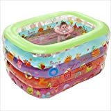 L&Y Badewanne Großes Und Farbenfrohes Babyschwimmbad Physikalische Cartoon Schwimmbad Aufblasbare Schwimmbad Badespiel-Pool