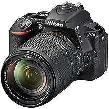 "Nikon D5500 - Cámara réflex de 24.2 MP (pantalla LCD táctil giratoria de 3.2"", vídeo Full HD 1080/60p, WiFi, filtros y efectos, HDR), rojo - kit con objetivo Nikkor AF-S DX 18 - 140 mm VR"
