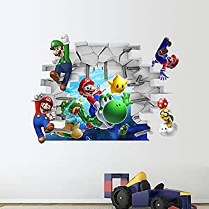 zy1440New Arrival Super Mario écologique Citation amovible Stickers muraux pour Home Decor murales Stickers pour chambre salon
