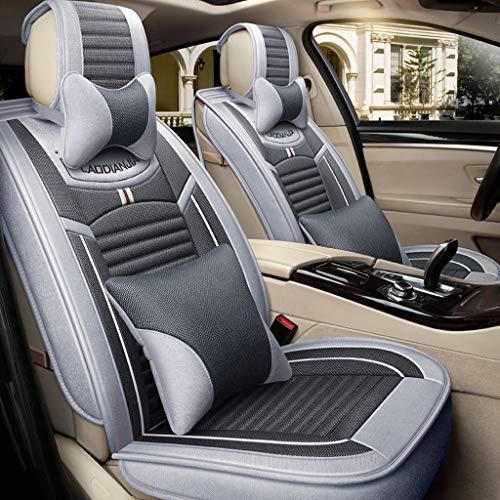 YE Sitzbezügesets Autositzbezüge Vordere Reihe + Hintere Reihe Vollen Satz 5 Sitze Auto Sitzkissen 4 Jahreszeiten Universal Car Type (B) (Farbe : Smoke Gray)