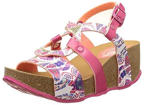 Chaussures Desigual - Desigual Bio9 Hearts, Sandales Bride Arriere Femme,
