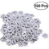 SUPVOX 100pcs Heart Jewelry Charms DIY Pendants for Crafting Bracelet Necklace Jewelry Findings