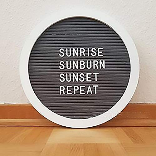 Tingxx Kreative Filz Letter Board HolzEiche Frame DIY Memo Menü Ankündigung Küche Notizen Board Message Board 10 * 10 Zoll @ Black_Circle