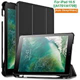 Oaky Newest IPad Pro 10.5 Inch 2017 Case With Pencil Holder Shockproof Lightweight Soft TPU Folio Smart Back Cover And Trifold Stand With Auto Sleep/Wake, Protective, Magnet Protective Function Perfect Match For Apple IPad Pro 10.5 Inch 2017 With Built-in