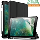 #2: Oaky Newest iPad Pro 10.5 Inch 2017 Case with Pencil Holder Shockproof Lightweight Soft TPU Folio Smart Back Cover and Trifold Stand with Auto Sleep/Wake, Protective, Magnet protective Function Perfect Match for Apple iPad Pro 10.5 Inch 2017 with Built-in Apple Pencil Holder (A1701/A1709)