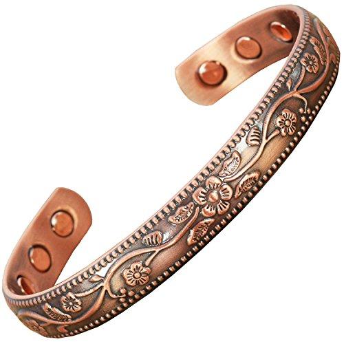 """Magnet Armbänder für Arthritis Schmerzlinderung Magnetisches Armband für Frauen Celtic Kupfer Armbänder Damen Pure Kupfer magnetisch Armband FC, S/M: Wrist 15-18.5cm/6-7.5"""""""