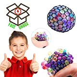 #10: FastUnbox Squishy Mesh Ball Hand Gripped Stress Relief Gag Toys Vent Water Ball Toys Tear-Resistant Non-toxic, Birthday Party Favors For Creative Stress Anxiety Reducer Gift for Kids Adult Steamed Stuffed Bun (4 Piece Only)