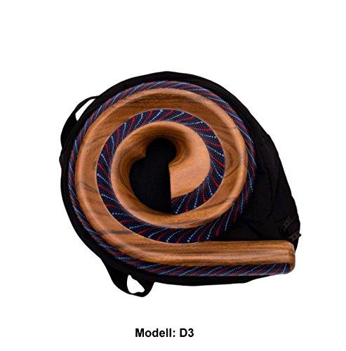 Didgeridoo Rundform Instrument Naturmaterialien Reisetasche Spirale Australien (D3)