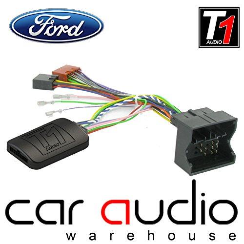 T1Audio Ford t1-fo3C-Max 1. Generation, Fiesta, Focus Mk2, Fusion, Galaxy Mk3, Mondeo MK4, S-Max, Transit 4. Generation, Kuga 1. Generation, Transit Connect 1. Generation Auto Lenkrad Stiel Schnittstelle Adapter mit frei Patch Blei (Adapter T1)