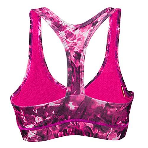 GoodNight Stampa a colori rofessional fitness reggiseno sportivo Rosa rossa