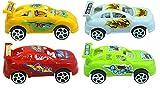 #3: Oviwa Toy Four Vehicle Set For Boys/Girls/Kids Assorted Designs Express Super Power cars set free wheel
