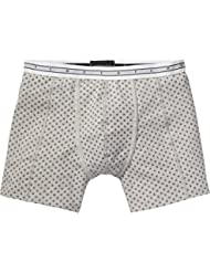 Scotch & Soda Classic In Grey Melange Quality with All-Over Print, Boxer Homme