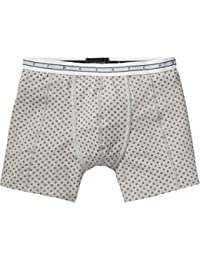 Scotch & Soda Herren Boxershorts Classic Boxer in Grey Melange Quality with All-Over Print