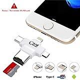 USB Kartenleser, Hizek 4 in 1 USB Kartenlesegerät TF Card Memory Card Reader USB 2.0...