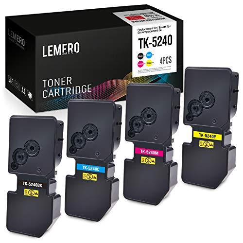 4 LEMERO kompatibel Kyocera TK5240 TK-5240 Multipack Toner für Kyocera ECOSYS P5026cdn P5026cdw M5526cdn M5526cdw (Schwarz Cyan Magenta Gelb) -