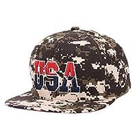 Kingko® Military Jungle Camouflage Pattern Concert Baseball Cap HipHop Style Snapback Hat (Green)
