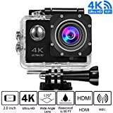 Kurtzy® 4k Wi-Fi Sports Action Digital Pro Waterproof Camera Ultra HD, With 170 Degree Wide Angle, 2.0 Inch LCD And Rechargeable Battery (color may vary)