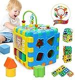 joyoldelf Cubo Musicale Giocattoli di attività - Giocattoli Educativi Interattivi per Bambini Piccoli (Centro di attività)